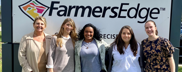 Tasha Siqueira completed her internship at Farmers Edge recently